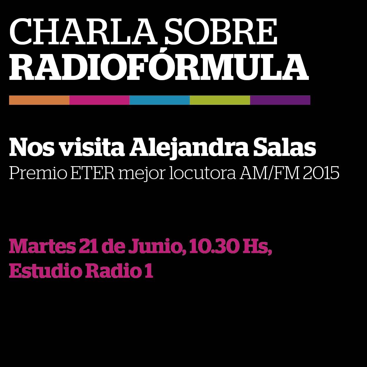 charla a cargo de Alejandra Salas